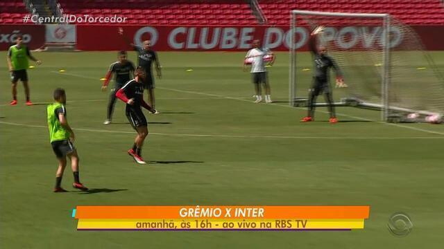 Inter faz treino fechado neste sábado (17) para o Gre-Nal do Gauchão