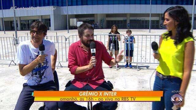 Peninha e Potter falam sobre a rivalidade Gre-Nal em campo