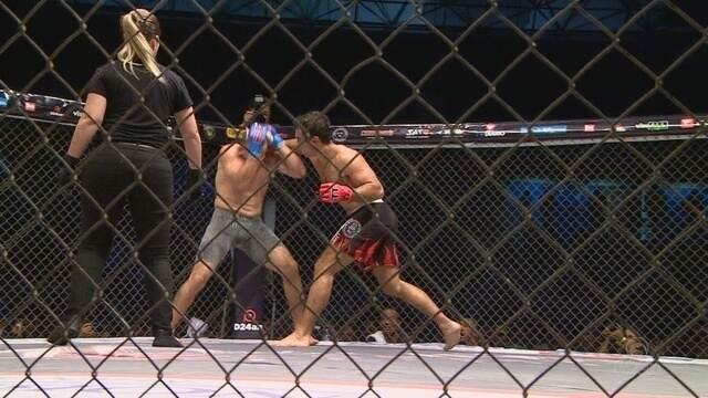Com Anderson Silva e Ronaldo Jacaré no público, Robocop vence crocotá no Jaguar Combat