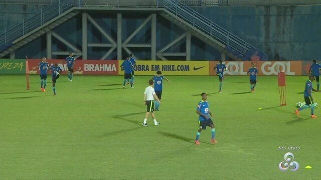 Seleção sub-20 faz primeiro treino em Manaus para amistoso contra o México