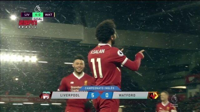 Salah brilha muito e assume liderança da Chuteira de Ouro