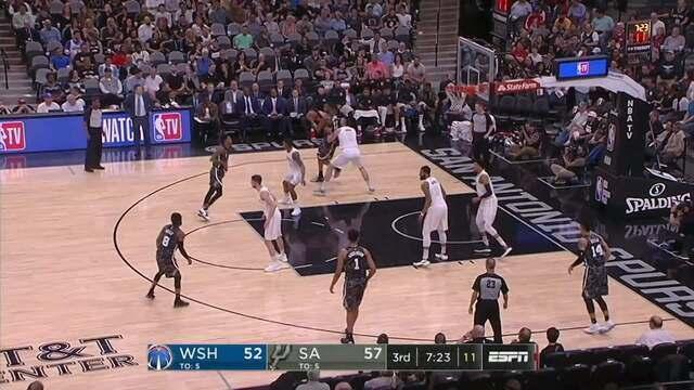 Melhores momentos: Washington Wizards 90 x 98 San Antonio Spurs pela NBA