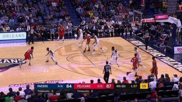 Melhores momentos: Indiana Pacers 92 x 96 New Orleans Pelicans pela NBA