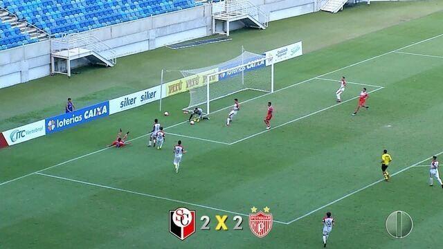 Santa Cruz e Potiguar de Mossoró empatam em 2 a 2 na Arena das Dunas