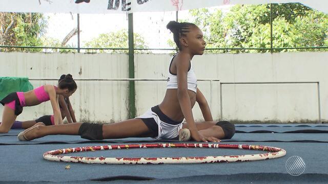 Ginasta baiana sonha em reprensentar o Brasil em competições olímpicas