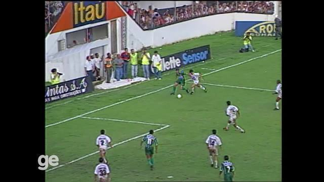 Em 1996, Palmeiras goleou Santos por 6 a 0 na Vila Belmiro