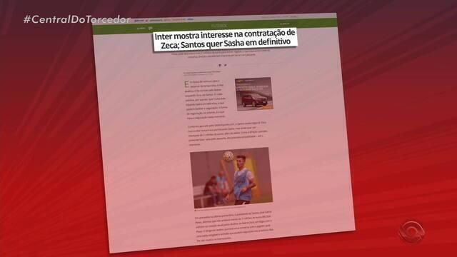 Inter mostra interesse na contratação de Zeca; Santos quer Sasha em definitivo