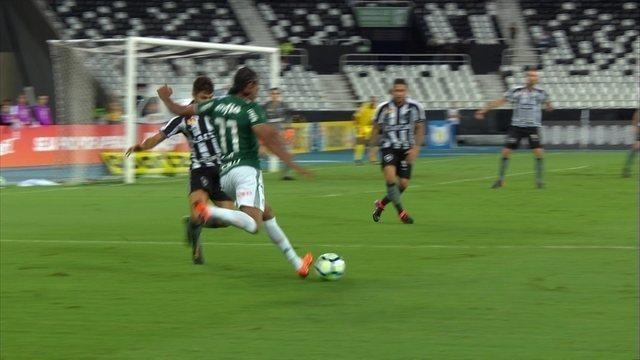 Melhores momentos de Botafogo 1 x 1 Palmeiras pela 1ª rodada do Campeonato Brasileiro