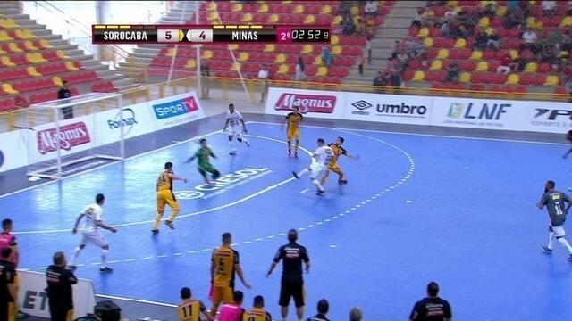 Os gols de Sorocaba 6 x 6 Minas pela Liga Nacional de futsal