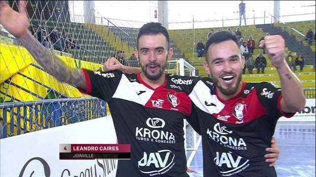 Os gols de Assoeva 1 x 3 Joinville pela Liga Futsal