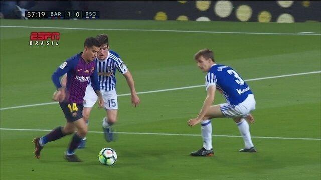 Gol de Philippe Coutinho, do Barça é eleito a pintura da rodada do futebol internacional