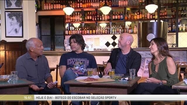 Boteco do Escobar recebe Junior, Fátima Bernardes e Paulo Ricardo