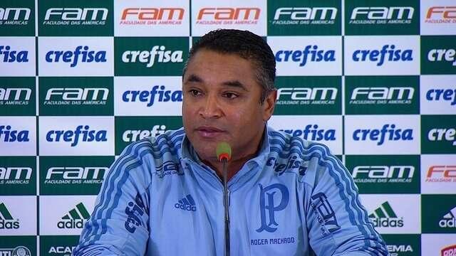 Veja a entrevista do técnico Roger Machado, do Palmeiras, após derrota para o Sport