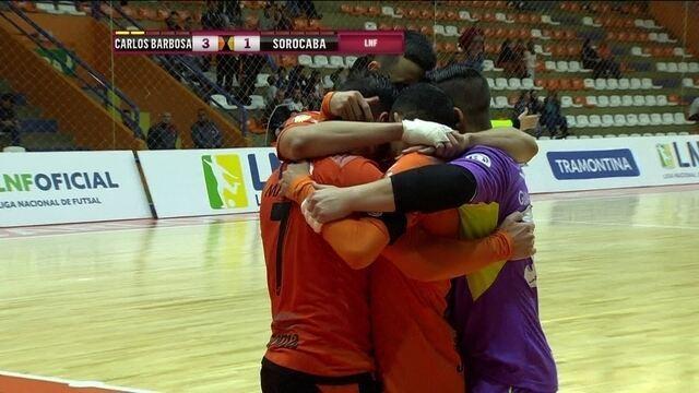 Os gols de Carlos Barbosa 4 x 2 Sorocaba pela Liga Nacional de Futsal