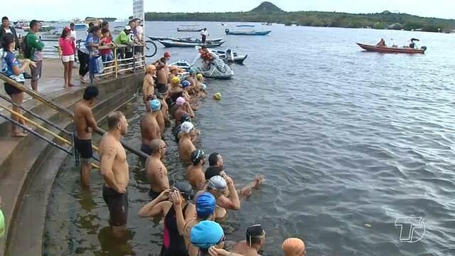 4ª travessia de natação em Alter do Chão reúne dezenas de atletas nas águas do Rio Tapajós