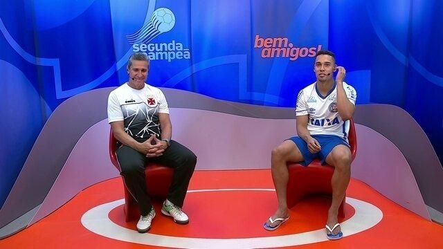 Jorginho e Edigar Junio participam do Bem, Amigos após jogo em São Januário