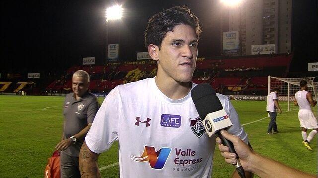 """Pedro fala sobre boa fase: """"Sou feliz por ser titular do Fluminense"""""""