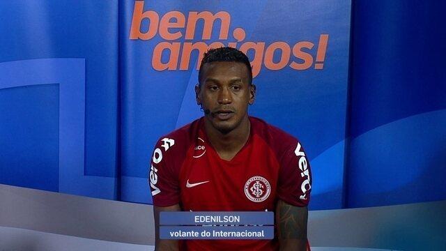 Edenílson fala sobre a vitória e o mau tempo durante a partida contra o Atlético-MG