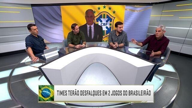 Comentaristas analisam desfalques de clubes brasileiros por causa da convocação de Tite