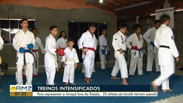 Amapaenses se preparam para disputar a Copa Norte de Karatê, em Belém