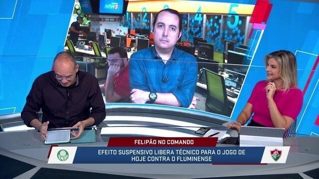 Jornalistas comentam sobre o confronto entre Palmeiras e Fluminense