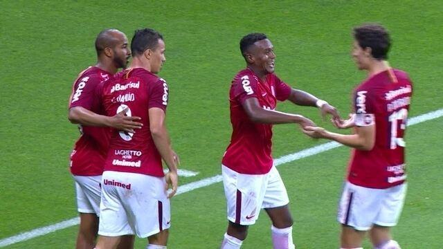 Os gols de Internacional 2 x 0 América-MG pela 34ª rodada do Campeonato Brasileiro