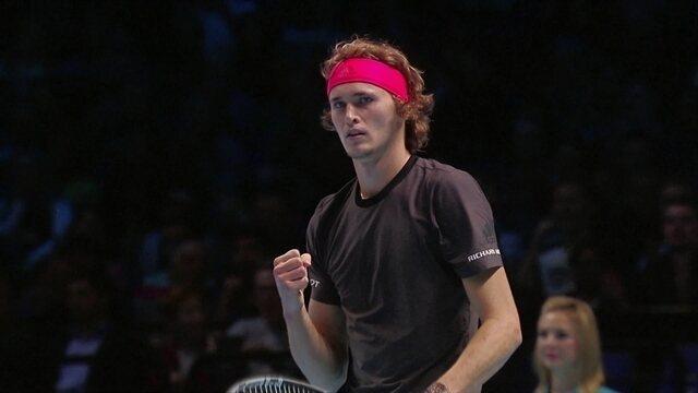 Alexander Zverev vence Novak Djokovic na final do Torneio dos Campeões