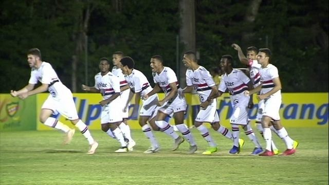 Os gols de São Paulo 1 (3) x 1 (2) Corinthians pela Copa RS de Futebol Sub-20