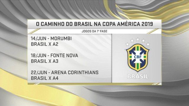 Comentaristas discutem local de partida da Seleção brasileira na Copa América