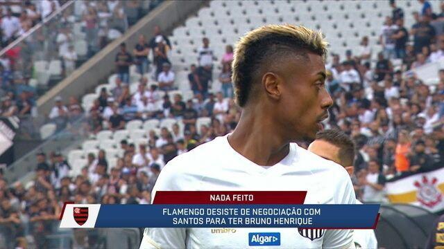 Flamengo desiste e Bruno Henrique deve continuar no Santos