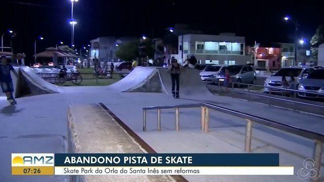 Skate park da orla do Santa Inês está com reforma atrasada