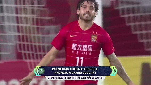 """Edinho analisa a chegada de Ricardo Goulart ao Palmeiras: """"Cada vez mais reforçado"""""""