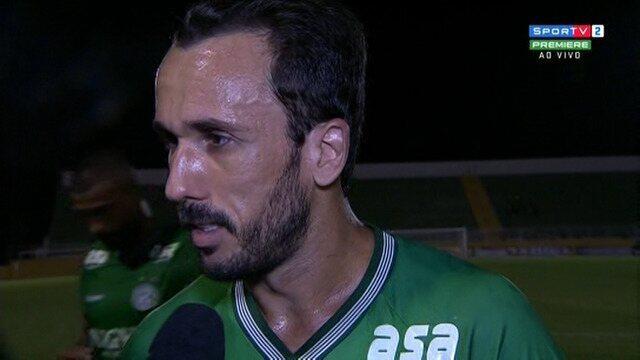 Thiago Ribeiro avalia estreia pelo Guarani e comenta derrota para o Bragantino