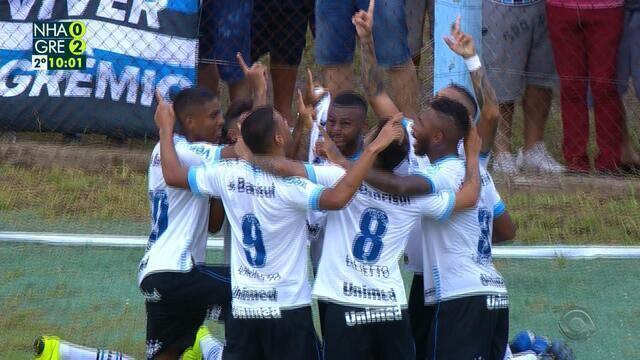 Confira os melhores momentos de Novo Hamburgo 0x4Grêmio, pelo Gauchão