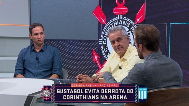 Caio Ribeiro e Roger Flores destacam meio-campo lento do Corinthians