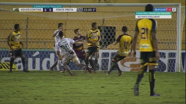 Matheus Vargas recebe na entrada da área, mas finaliza por cima do gol, aos 22' do 2ºT