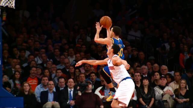 Câmera lenta: espetáculo de imagens nos 54 pontos de Curry sobre os Knicks em 2013