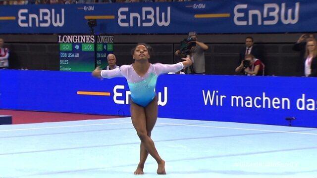 Confira a apresentação de Simone Biles na Copa do Mundo de ginástica artística