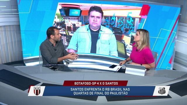 """Loffredo critica derrota do Santos para o Botafogo-SP:""""Não importa se é time reserva"""""""