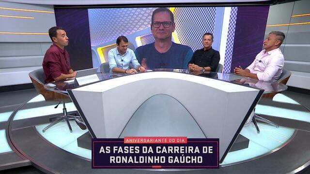 Comentaristas analisam a carreira de Ronaldinho Gaúcho