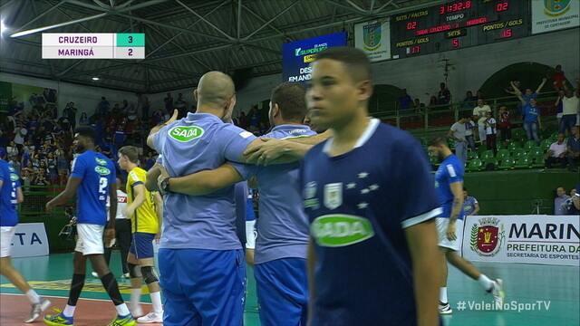 Melhores momentos: Cruzeiro 3 x 2 Maringá pela Superliga Masculina de Vôlei