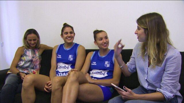 """Companheiras de quarto, de posição e de clube, Gabi e Nathalia falam quem é """"a mais provável que..."""""""