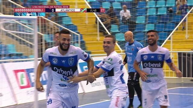 Os gols de Tubarão 2 x 1 Atlântico pela Liga Nacional de Futsal 2019
