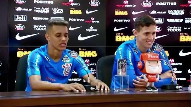 Veja a entrevista de Pedrinho e Mateus Vital no Corinthians