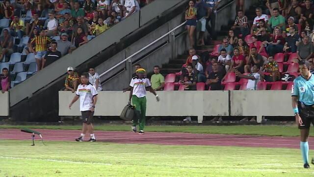 Massagista do Sampaio Corrêa é destaque do jogo contra o Palmeiras