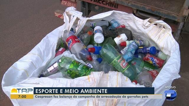 Coopresan faz balanço da campanha de arrecadação de garrafas pet, em Santarém