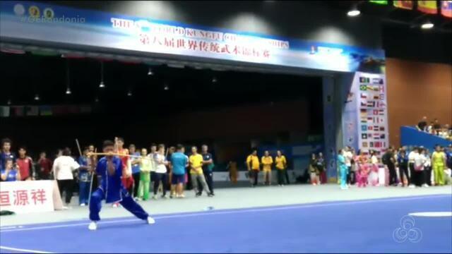 Atleta de Kung Fu de Rondônia é medalha de bronze em mundial da China