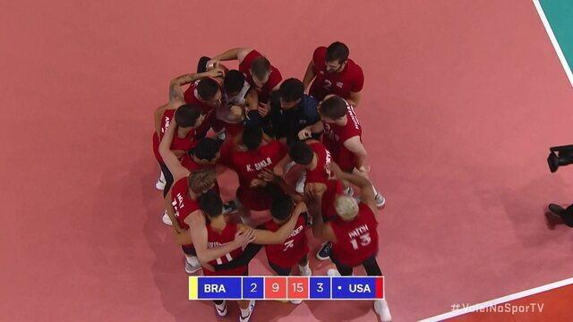 5º set: Estados Unidos fecham set e fazem a final da Liga das Nações contra a Rússia: 15/9