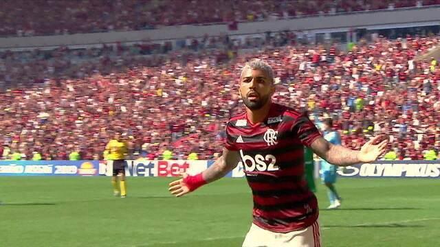 OS gols de Flamengo 6 x 1 Goiás pela 10ª rodada do Campeonato Brasileiro
