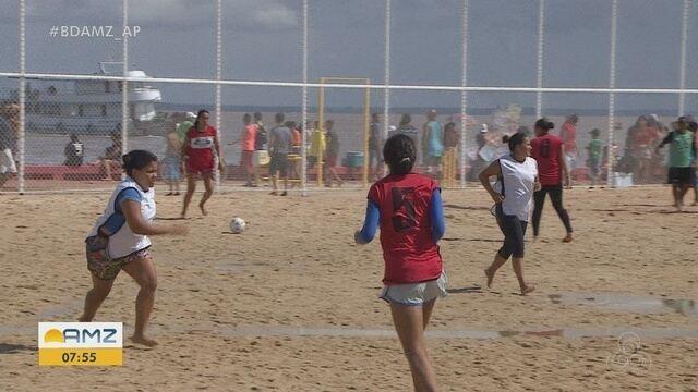 Macapá Verão: centenas de pessoas competem no futebol de areia, basquete e vôlei